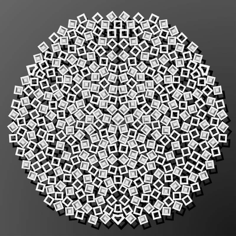 Laserowy cięcie papieru diamentu kwadrata rocznika wzoru wektor ilustracji