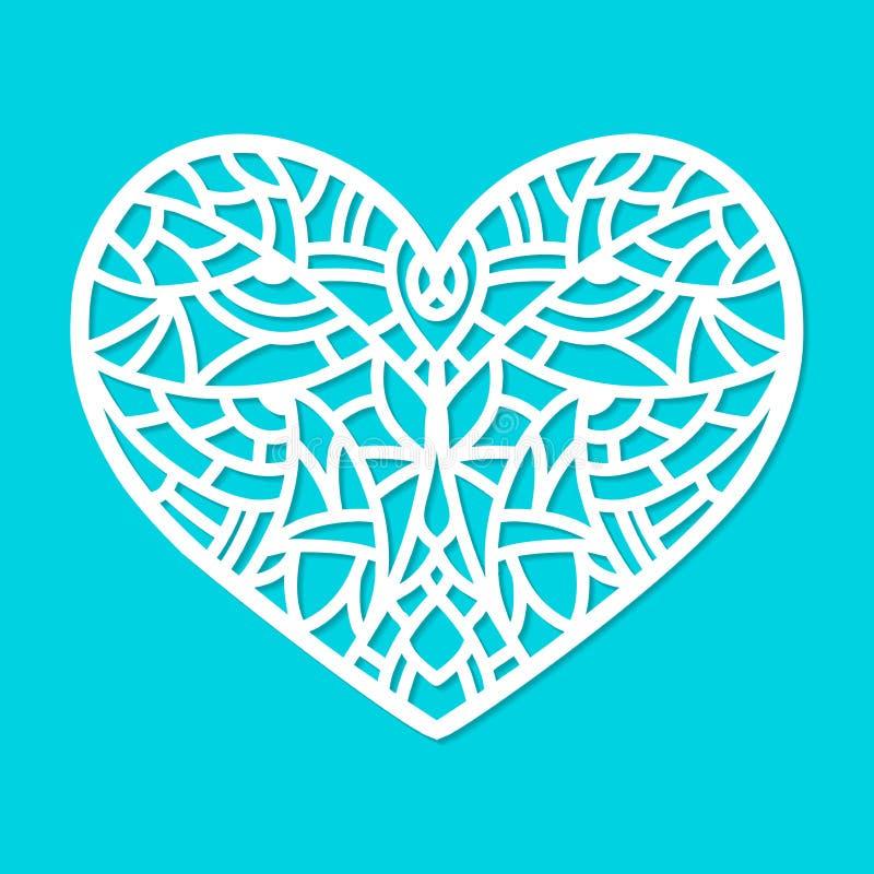 Laserowy rżnięty wektorowy kierowy ornament Wycinanki deseniowa sylwetka z abstrakcjonistycznymi kształtami Kostka do gry rżnięty ilustracji