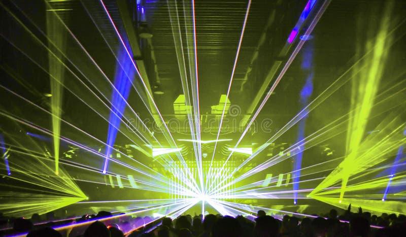 Lasers 3 de boîte de nuit photo stock