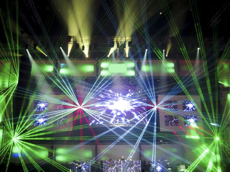Lasers do clube noturno fotos de stock royalty free
