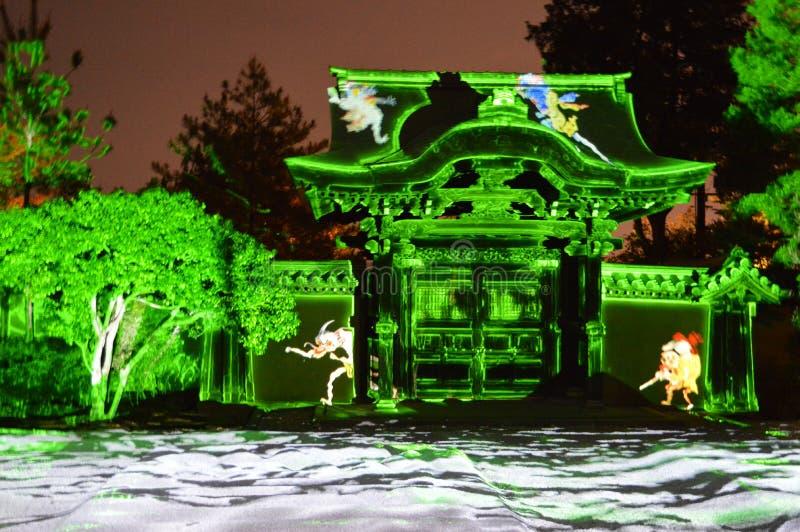 Lasers no templo imagem de stock