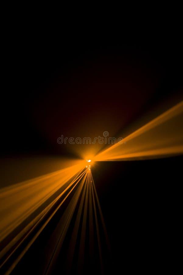 Laserstrahlorange stockbilder