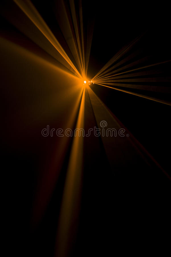 Laserstrahlorange stockfotos
