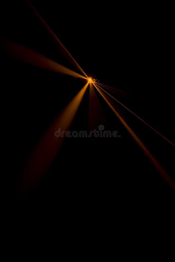 Laserstrahlorange stockfoto