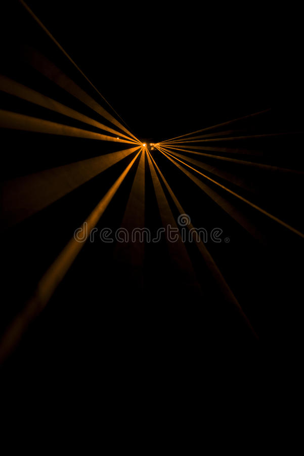 Laserstrahlorange stockbild
