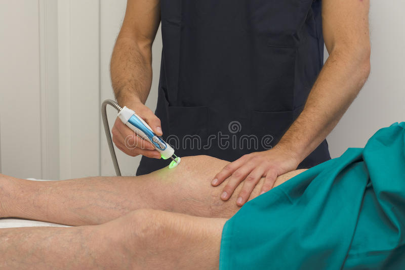 Lasertherapy royalty free stock photography
