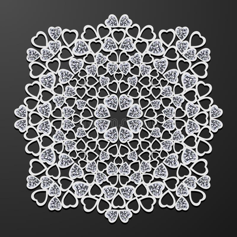 Laseru cięcia papieru rocznika wzoru kierowy wektor royalty ilustracja
