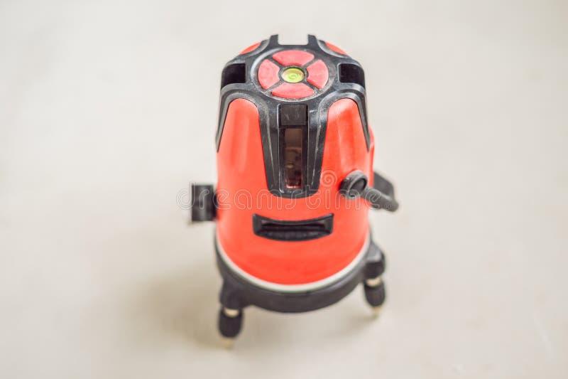 Laseru pomiaru narzędzia laseru pozioma Równi narzędzia dla budowy zdjęcie stock