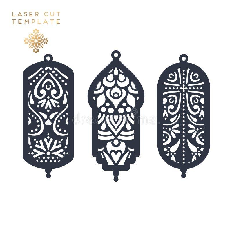 Laseru rżnięty islamski wzór ilustracja wektor