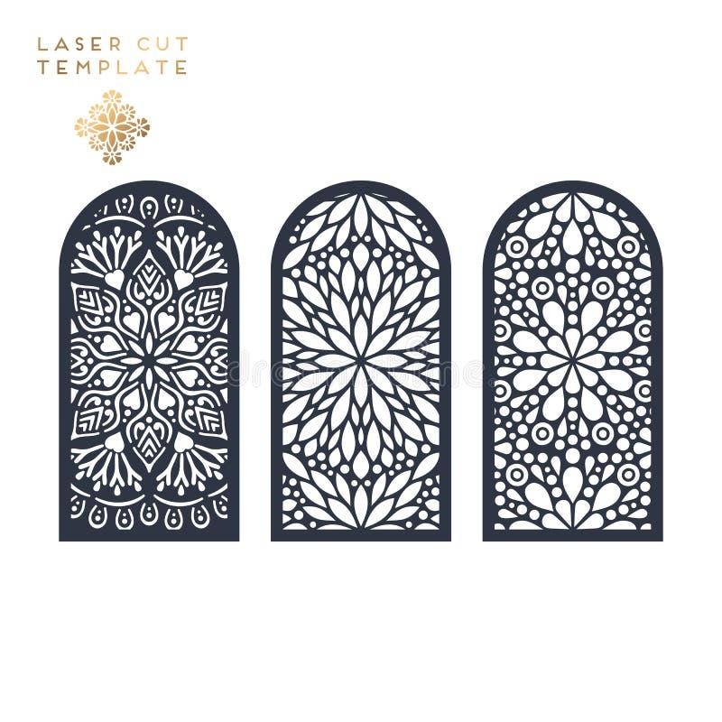 Laseru rżnięty islamski wzór ilustracji