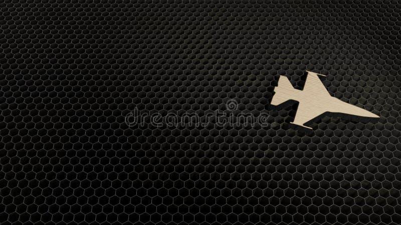 laseru rżnięty sklejkowy symbol myśliwiec royalty ilustracja
