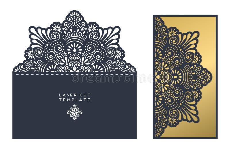 Laseru Rżnięty szablon royalty ilustracja