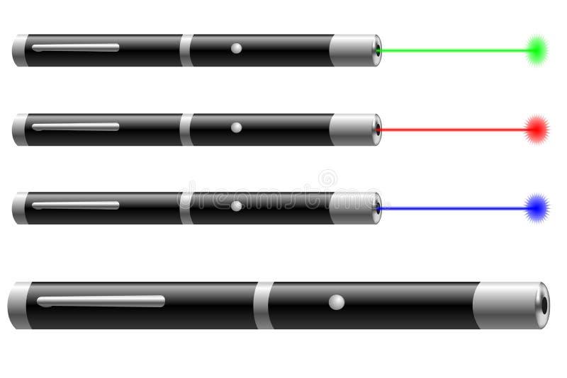 Laserwijzer stock illustratie