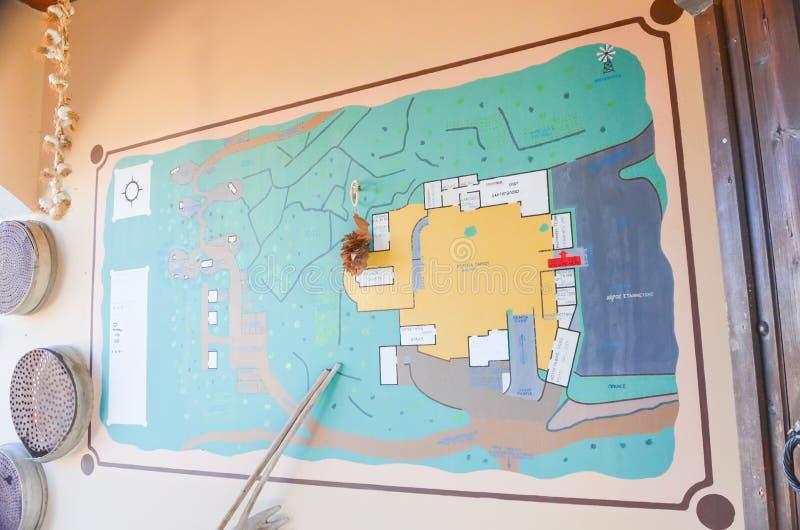 Lasinthos Eco动物园公园地图  图库摄影