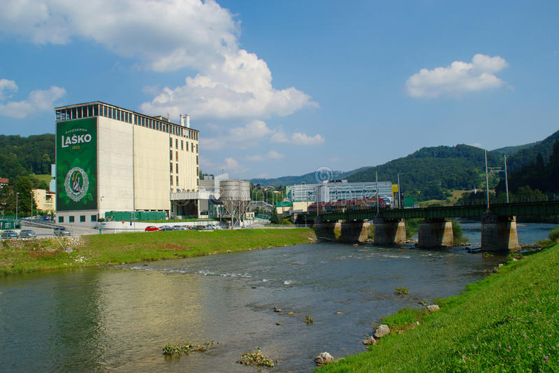 Lasko Brewery, Slovenia stock photography