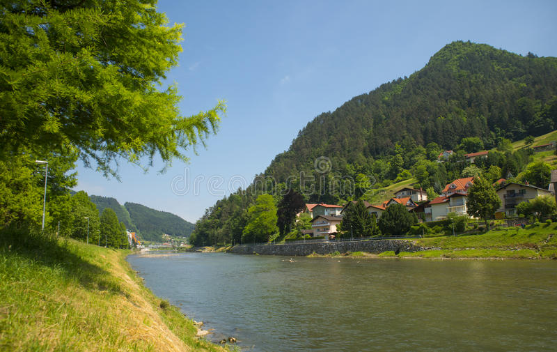 Lasko town, Slovenia. Lasko town in central part of Slovenia royalty free stock images