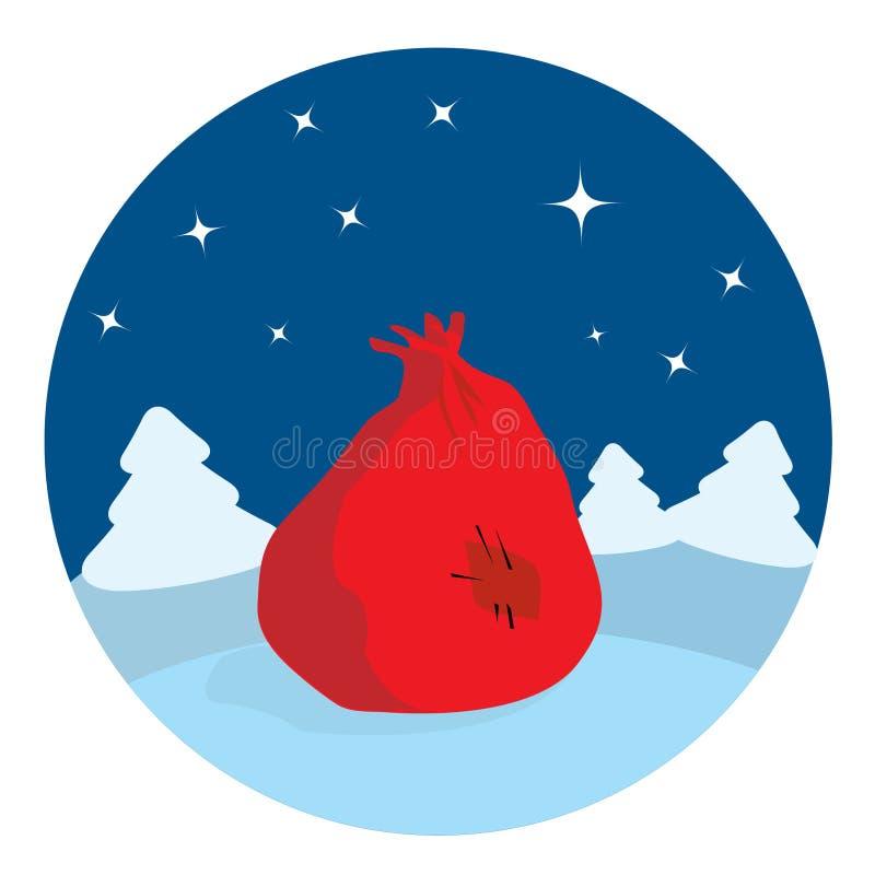 lasowa łgarska noc s workowy Santa ilustracji