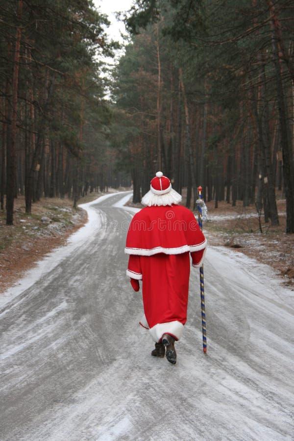 lasowa 6 droga Claus Santa zdjęcie royalty free