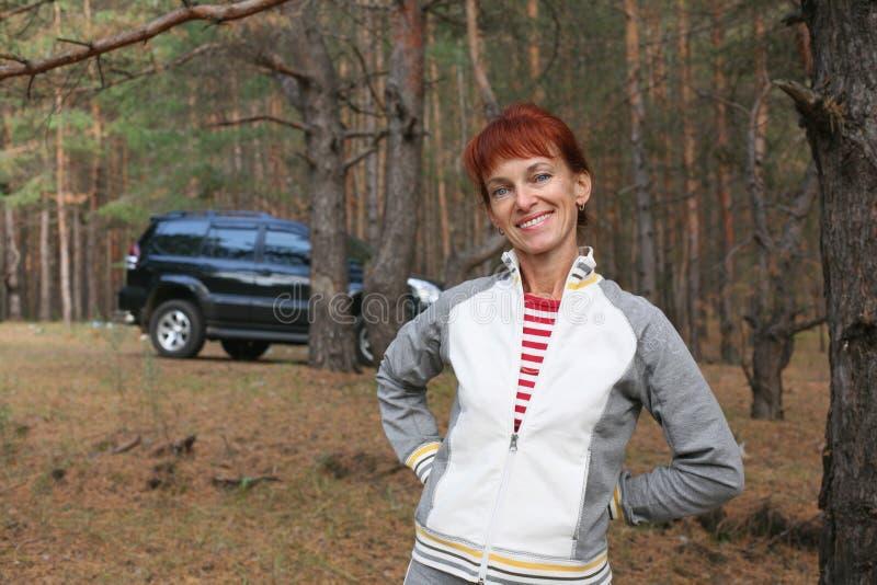 lasowa kobieta obrazy royalty free