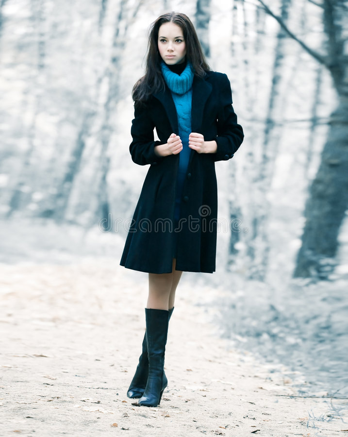 lasowa osamotniona kobieta fotografia royalty free