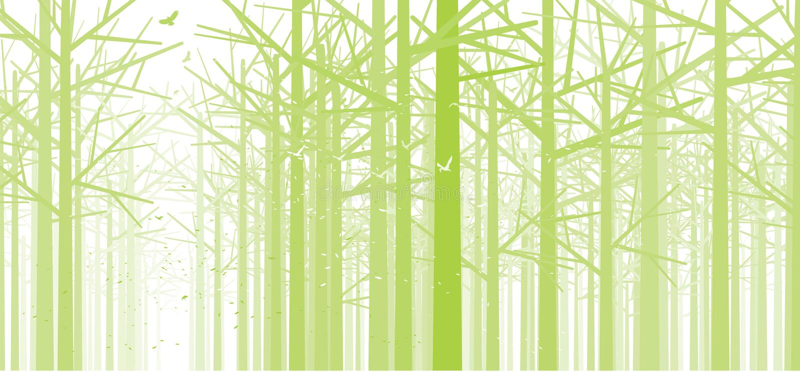 lasowa zieleń ilustracji
