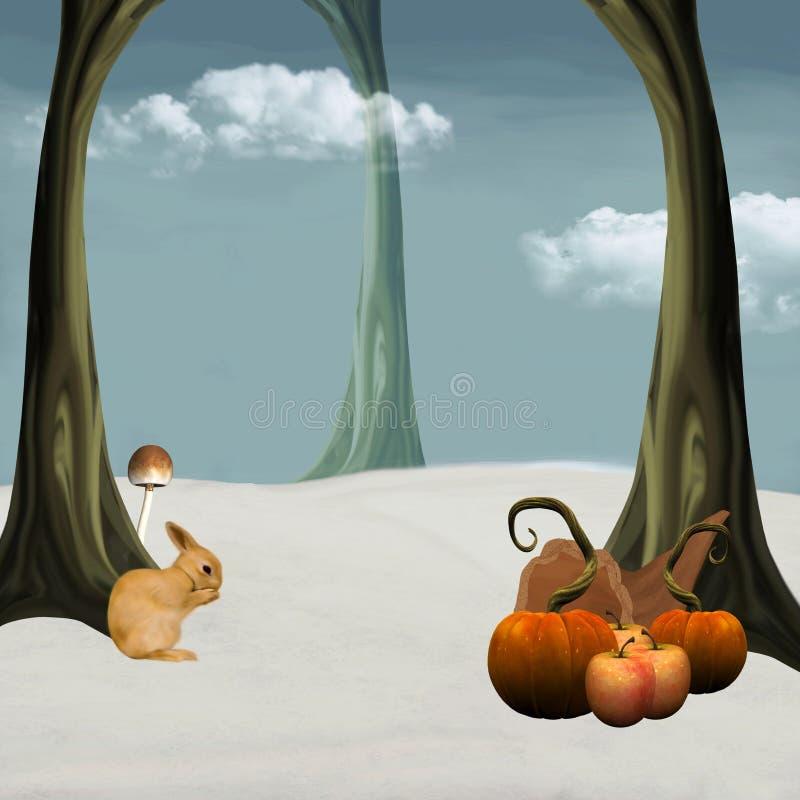 Download Lasowa zima ilustracji. Obraz złożonej z target60, jabłka - 20095578