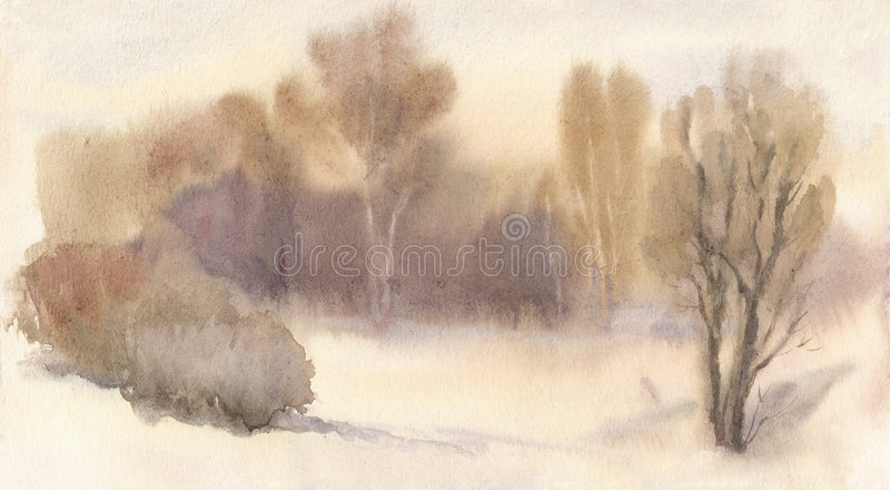 lasowa zima royalty ilustracja