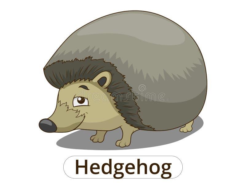 Lasowa zwierzęca jeż kreskówki wektoru ilustracja ilustracja wektor