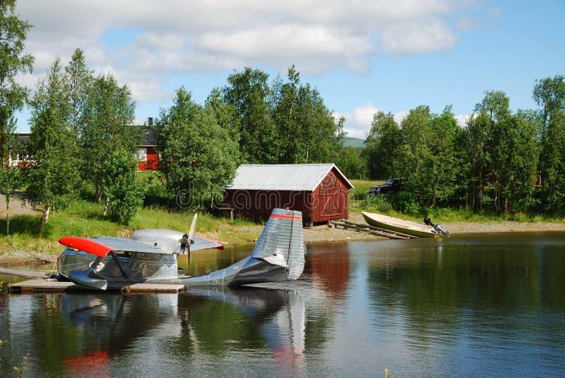 lasowego hydroplane jeziorny brzeg fotografia stock