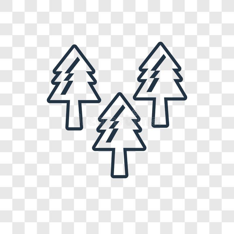 Lasowego pojęcia wektorowa liniowa ikona odizolowywająca na przejrzystym backgr ilustracja wektor