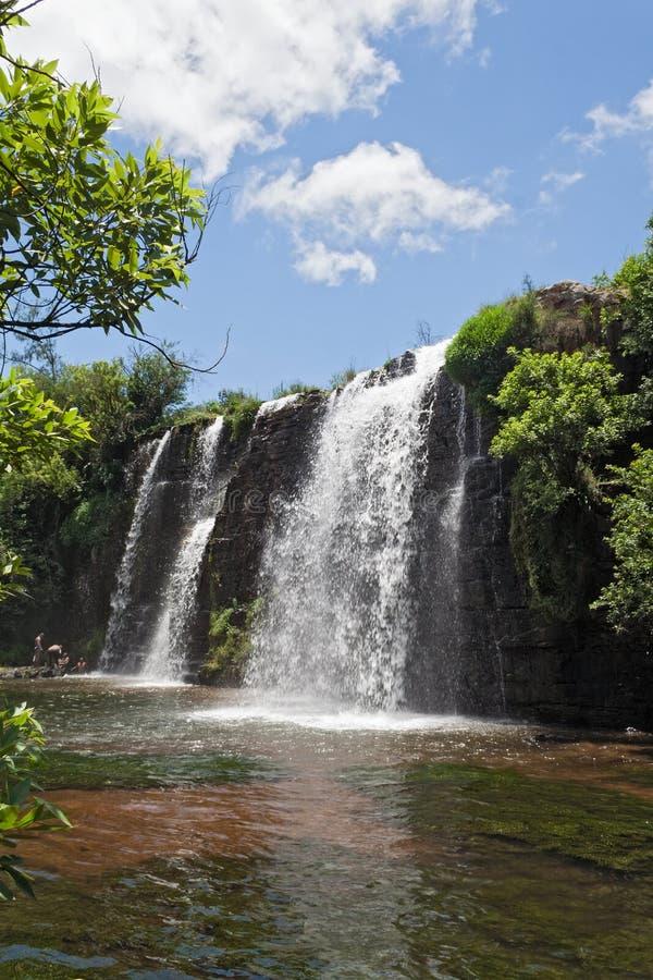 Lasowi spadki mac mac rzeka w północy sabie, południowy Africa zdjęcia royalty free