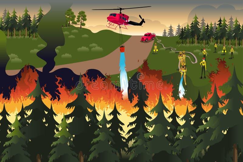Lasowi strażacy royalty ilustracja