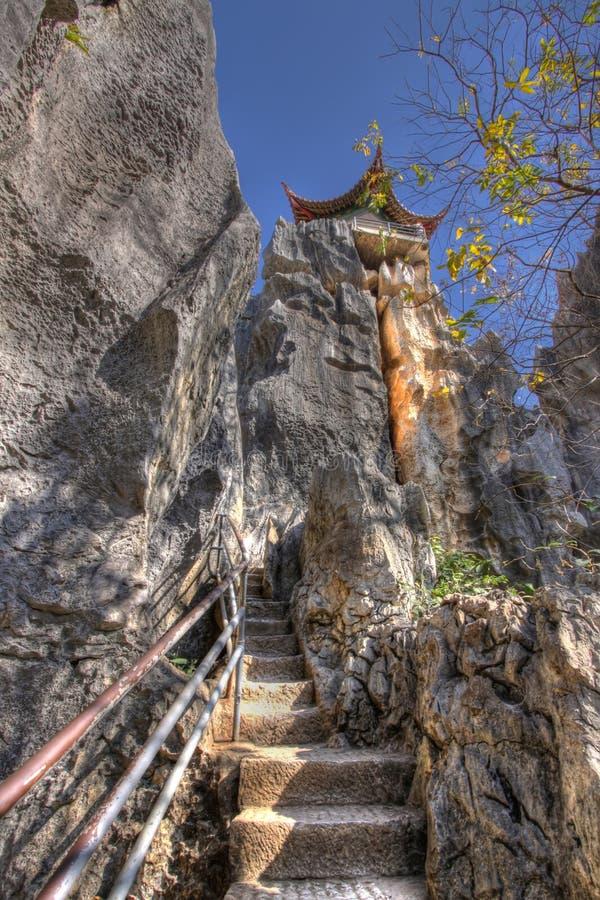 lasowy Kunming pagodowy shilin kamień obraz royalty free