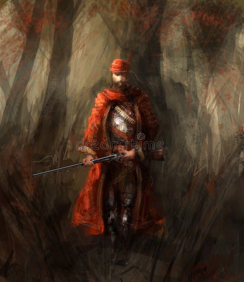 lasowy myśliwy royalty ilustracja