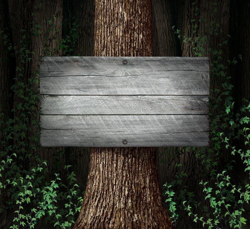 Lasowy puste miejsce znak royalty ilustracja