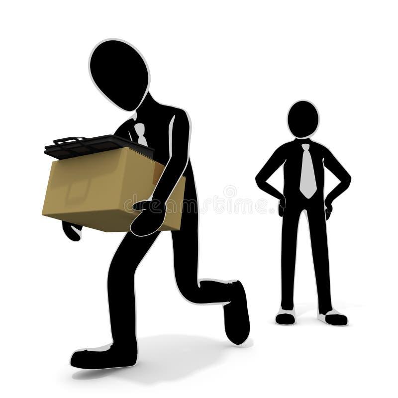 Lassen Sie die entlassen zu werden Firma/die Person,/abgefeuert zu werden/ich verlieren meinen Job lizenzfreie abbildung
