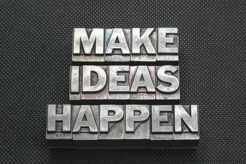 Lassen Sie Ideen geschehen Schwerpunktshandbuch stockbild