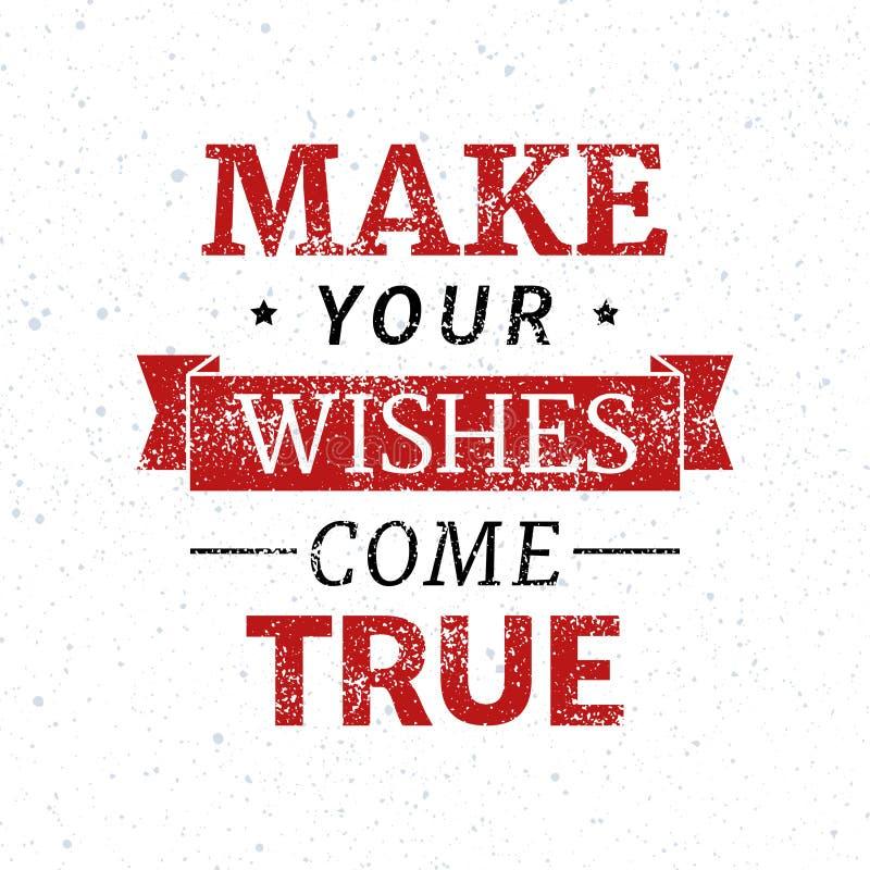Lassen Sie Ihre Wünsche in Erfüllung gehen lizenzfreie abbildung