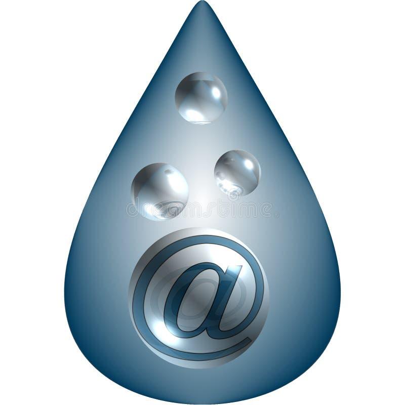 Lassen Sie mich eMail fallen! lizenzfreie abbildung
