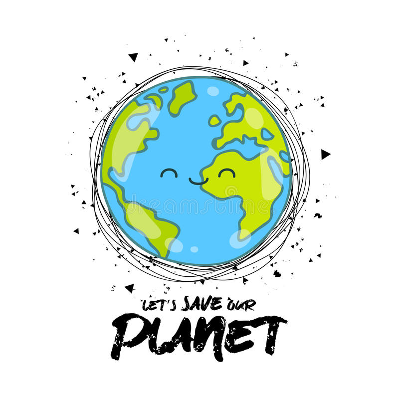 Lassen Sie ` s Abwehr unser Planet vektor abbildung