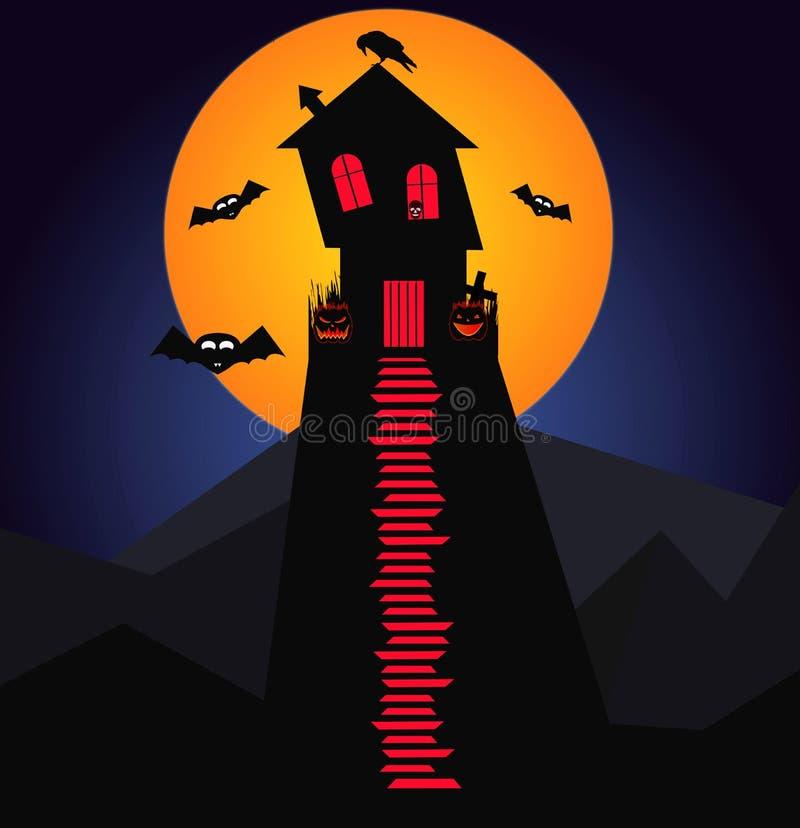 Lassen Sie ` s zu Dracula-` s Halloween Partei gehen lizenzfreie abbildung