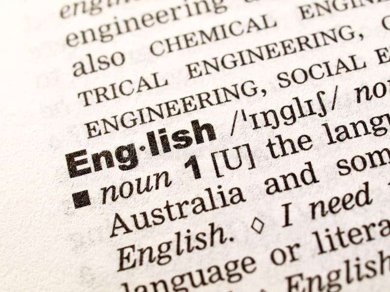 Lassen Sie uns Englisch erlernen! lizenzfreie stockbilder