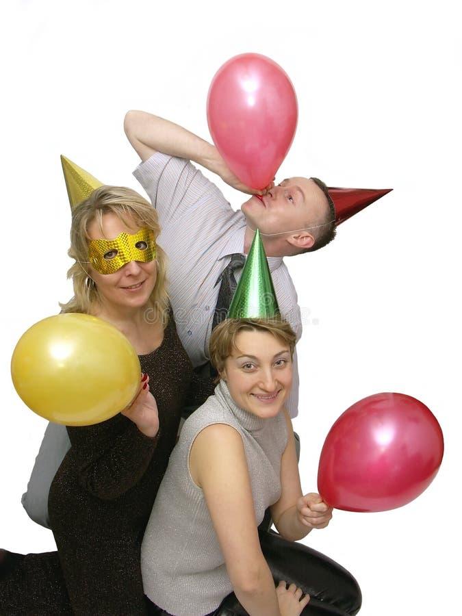 Lassen Sie uns gehen Party lizenzfreies stockbild