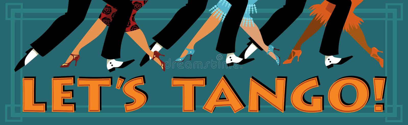 Lassen Sie uns Tango! stock abbildung