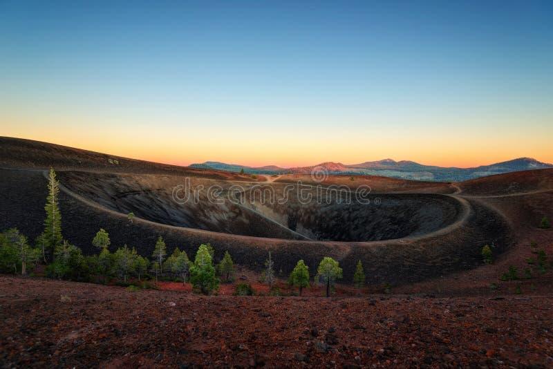 Lassen Volcano Cinder Cone royalty-vrije stock afbeeldingen