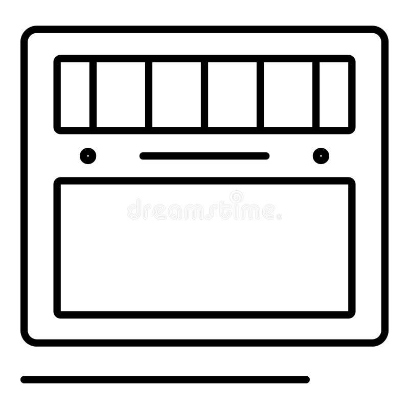Lassend nieuw machinepictogram, overzichtsstijl stock illustratie