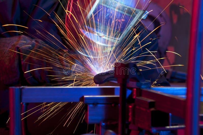 Lasser die technisch staal oprichten royalty-vrije stock afbeeldingen