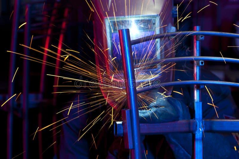 Lasser die technisch staal oprichten stock fotografie