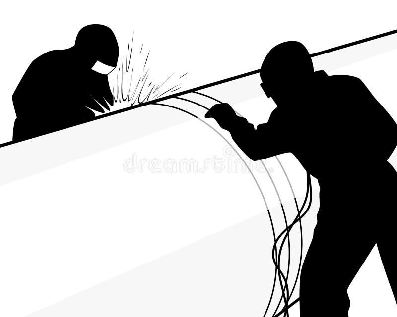 Lassers op een pijp vector illustratie