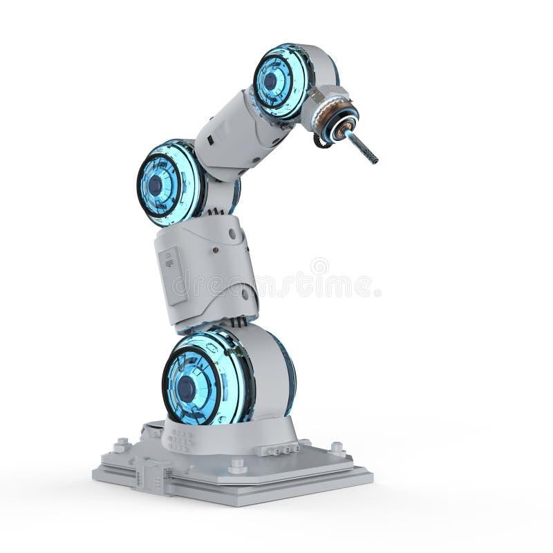 Lassers robotachtig wapen stock illustratie